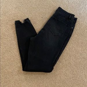NY & company black skinny high waisted jeans